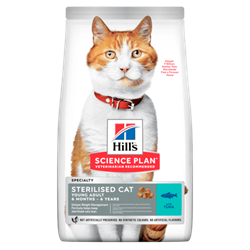 Hill's Science Plan Feline Sterilised Cat Young Adult TUN. Kattefoder til voksne. 10 kg
