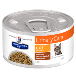 Hill´s Prescription Diet™ c/d™ Multicare Feline Stew with Chicken & added Vegetables 1 dåse med 82 g