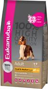Eukanuba Adult Small & Medium Breed LAM & RIS. Hundefoder til voksne. 12 kg
