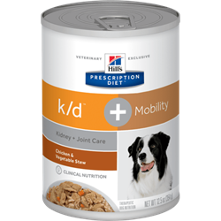 Hill´s Prescription Diet™ k/d + Mobility Canine Stew with Chicken & added Vegetables 1 dåse med 354g