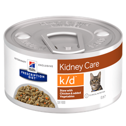 Hill´s Prescription Diet™ k/d™ Feline Stew with Chicken & added Vegetables 1 dåse med 82 g