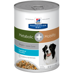 Hill´s Prescription Diet™ Metabolic + Mobility Canine Stew flavoured with Tuna & Vegetables 1 dåse med 354 g