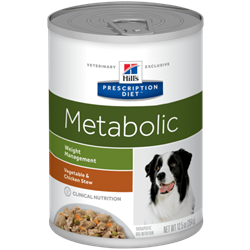 Hill´s Prescription Diet™ Metabolic Canine Stew flavoured with Chicken & Vegetables 1 dåse med 354 g