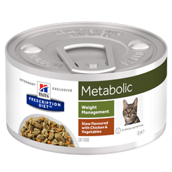 Hill´s Prescription Diet™ Metabolic Feline Stew flavoured with Chicken & Vegetables 1 dåse med 82 g