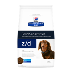Hill's Prescription Diet Canine z/d MINI Food Sensitivities. Hundefoder mod allergi (dyrlæge diætfoder) 1,5 kg