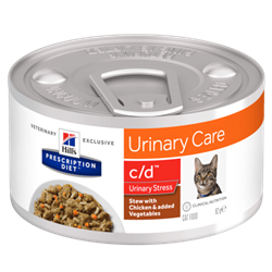 Hill´s Prescription Diet™ c/d™Urinary Stress Feline Stew with Chicken & added Vegetables 1 dåse af 82 g